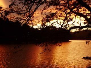 Darknes of the kandy lake, landscape