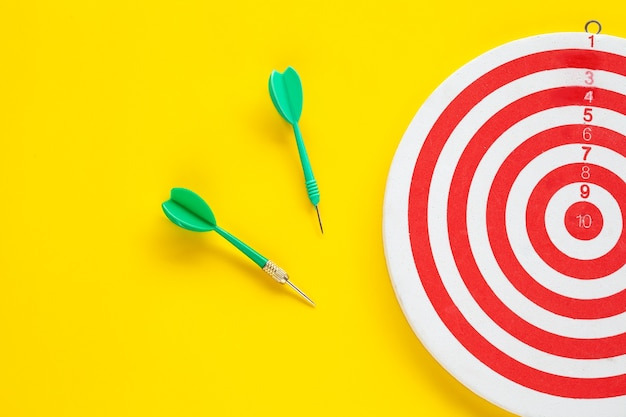 Dart arrow on target dartboard