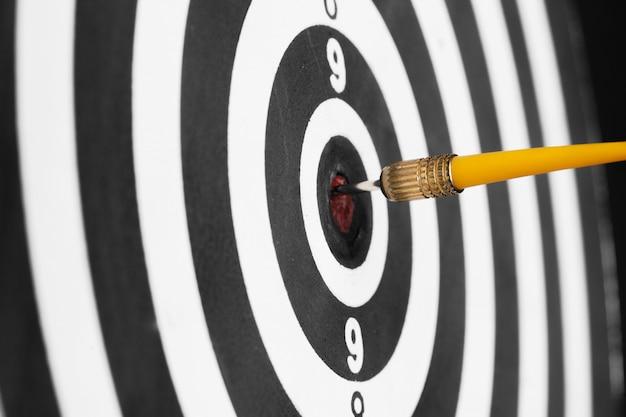 Dartboard business success concept