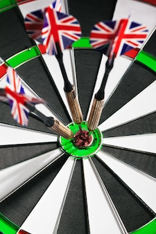 Dartboard business success concept