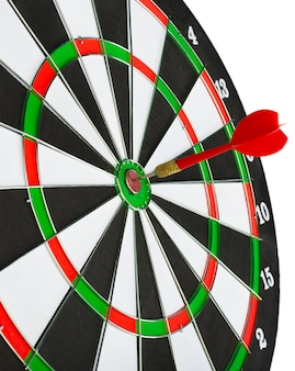 Dartboard with darts