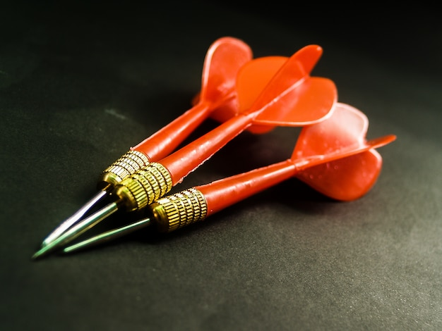 Darts arrows in the target  business goal concept