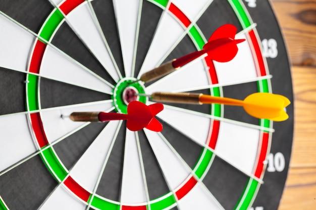The darts close-up photo