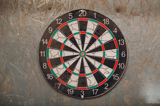 Darts game. dart and target.
