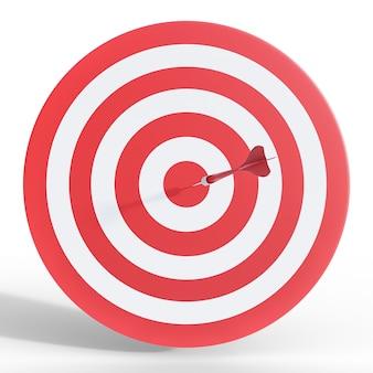 Дартс целевой 3d иллюстрации, изолированные на белом фоне. бизнес-концепция успеха.
