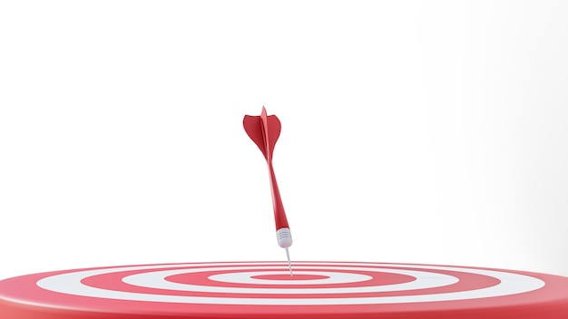 Darts target 3d illustration isolated on white background. success business concept.
