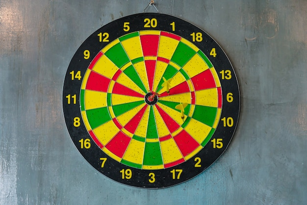 The darts on the wall, target , success