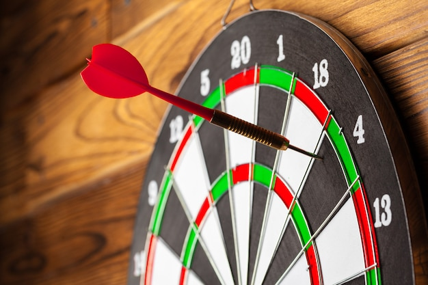 The darts on wooden