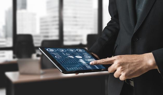 ビジネスと金融の概念のためのデータ分析。