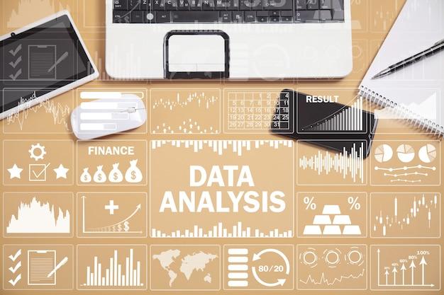 Анализ данных. графики прибыли и анализ тенденций фондового рынка. бизнес. финансы