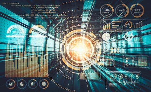 高速モーションデジタル転送の背景を持つデータ分析の概念