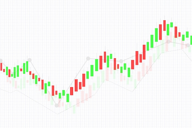 Data analyzing business candle stick chart of display stock market investment trading