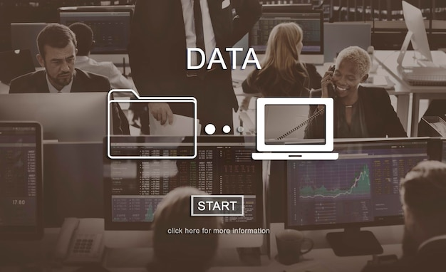 Data database analysis system information concept