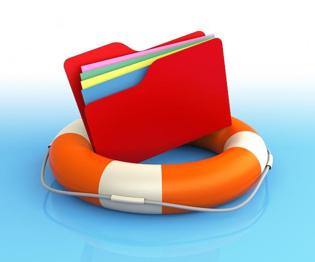 구명 부표의 데이터 폴더. 파일 개념 구출