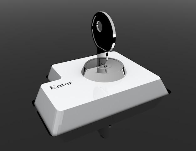 Data input blocking. isolated 3d image on black