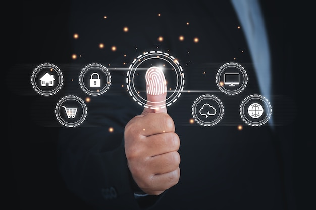 Data protection privacy and cybersecurity network concept