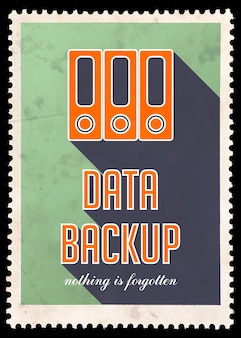 Data recovery on green. grunge concept in flat design with long shadows.