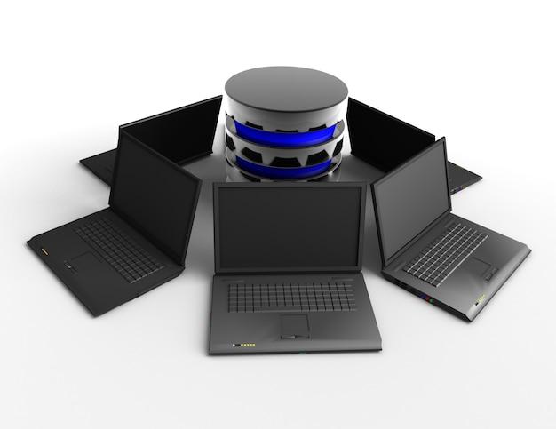 ラップトップ3dに接続されたデータベース