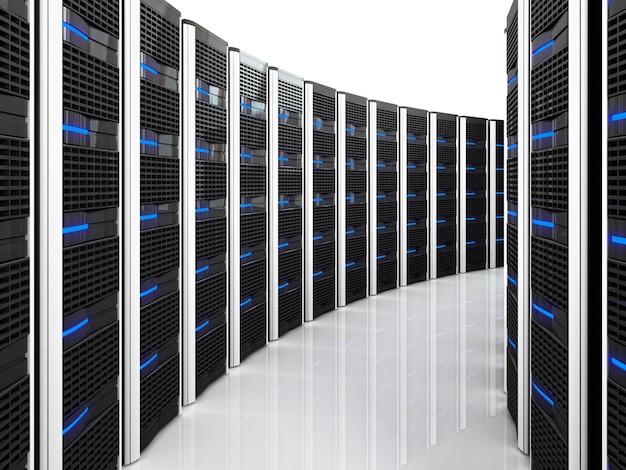 Датацентр с большим количеством серверов