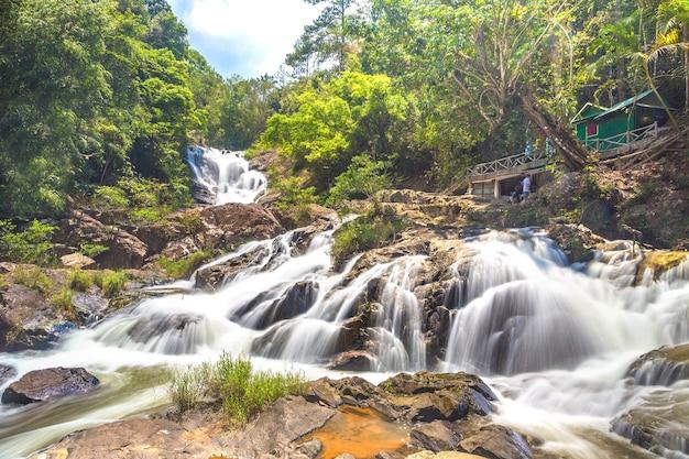 Datanla waterfall in dalat, vietnam
