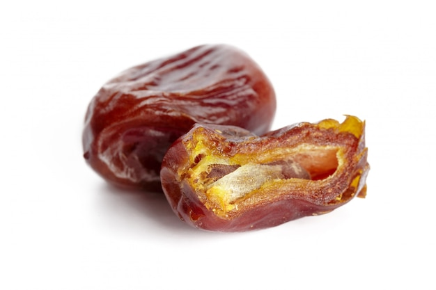 Date fruit isolated on white