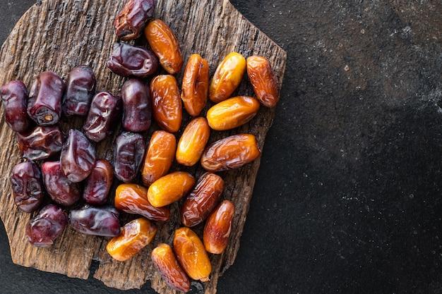 ナツメヤシの甘いドライフルーツおいしい健康的なスナックケトまたは古ダイエット