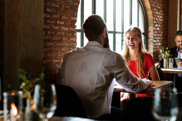 Date night a restaurant