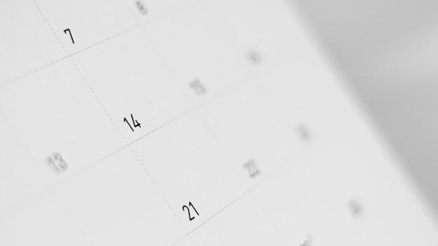 Дата 14 февраля в календаре. день святого валентина концепция