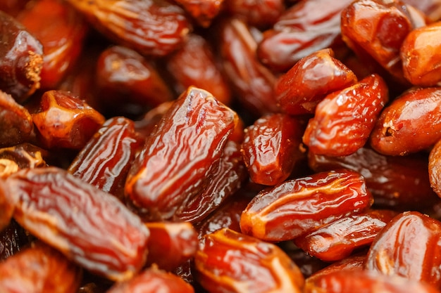 Dates close-up, texture and beautiful background