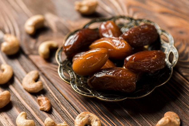 Dates on metal plate