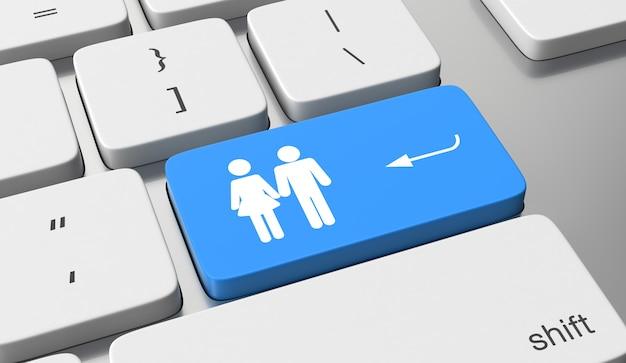 Значок знакомств на клавиатуре