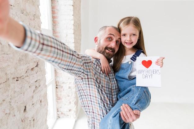 父の日の娘とパパ
