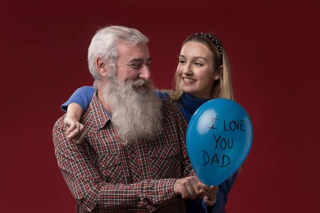 Дочь и отец на день отцов