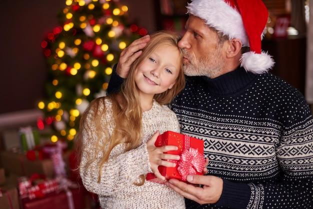 La figlia è la pupilla degli occhi di papà