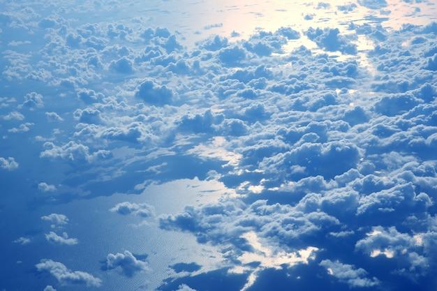 비행기에서 바다에서 새벽