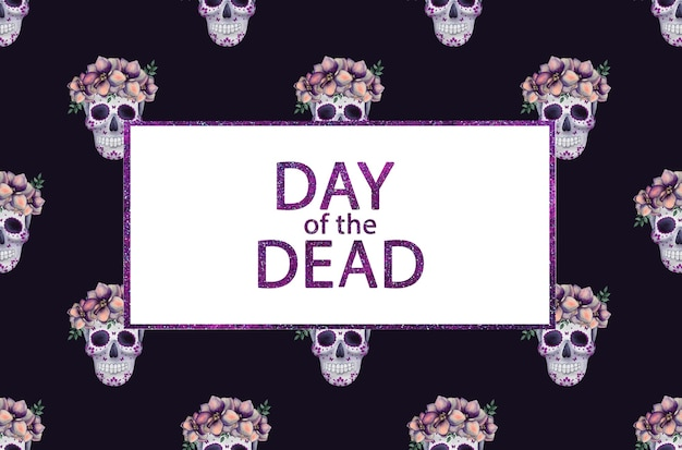 Day of the dead. beautiful watercolor drawing