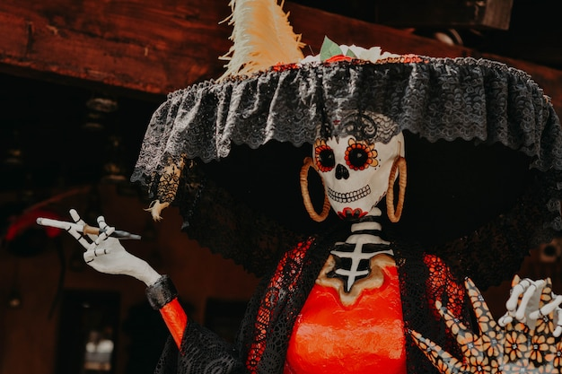 Day of the dead, catrina decoration from mexico