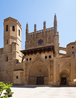 Day view of huesca cathedral