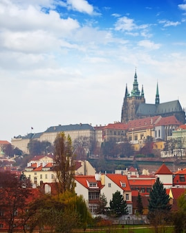 Day view of prague castle