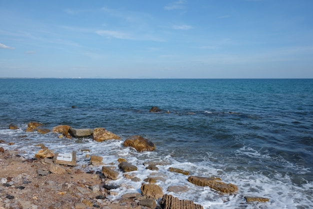 Daytime seaside view in thailand