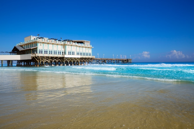 Daytona beach in florida with pier usa