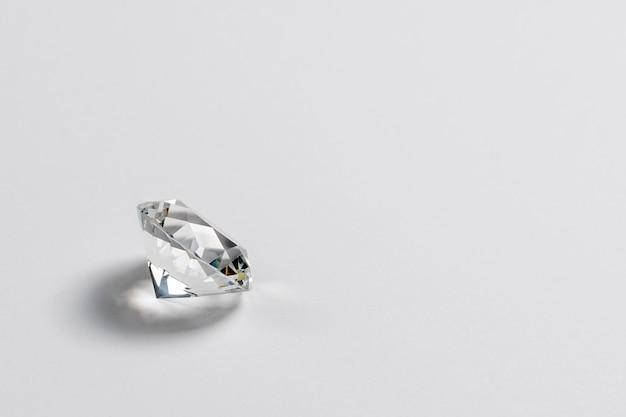 Dazzling diamond on neutral light