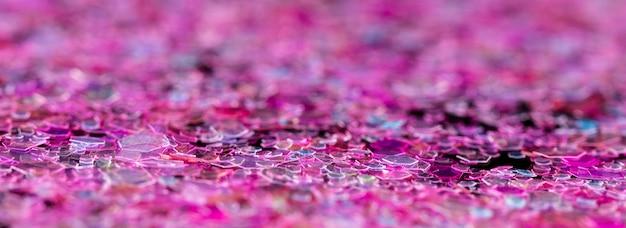 まばゆいピンクのキラキラ
