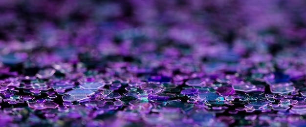 Dazzling purple glitter
