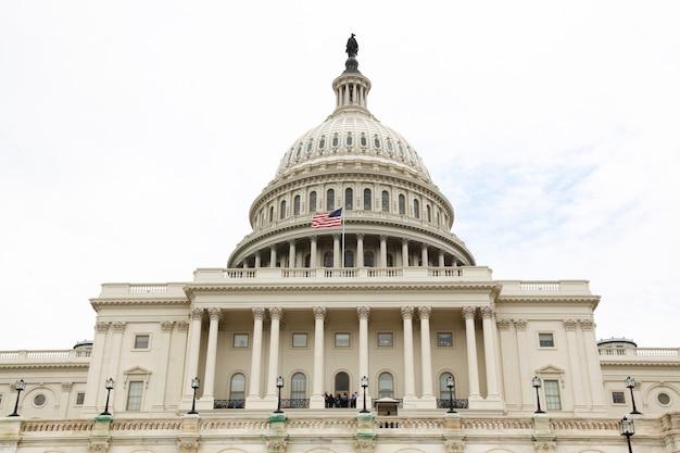 アメリカ合衆国ワシントンdcのアメリカ合衆国議会議事堂。