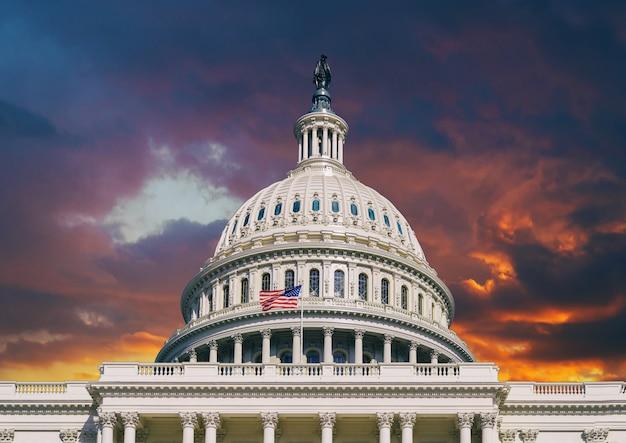 ワシントンdcの米国議会議事堂のドーム