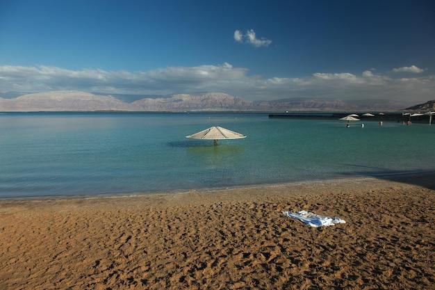 Пляж мертвого моря, эйн-бокек, израиль