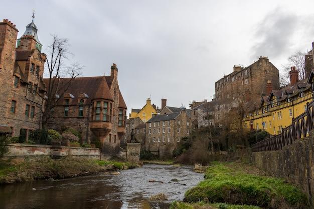 Деревня дин в эдинбурге, шотландия