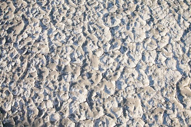 カリフォルニア州デスバレー。砂漠の塩分残留物の詳細。