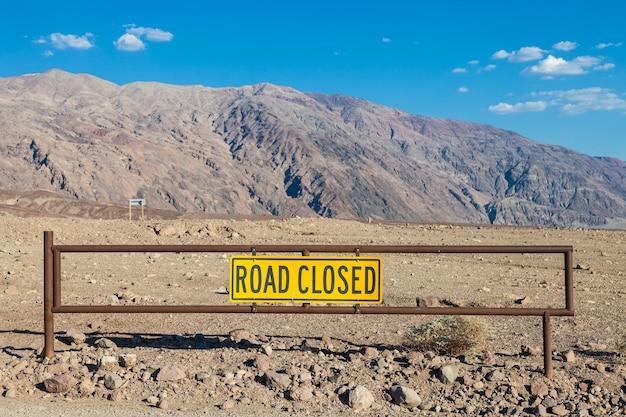 Долина смерти, калифорния. знак